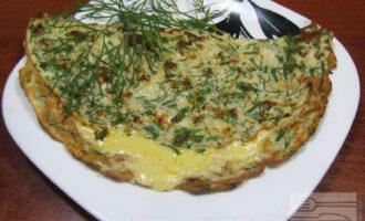 Овсяноблин с отрубями, сыром и зеленью