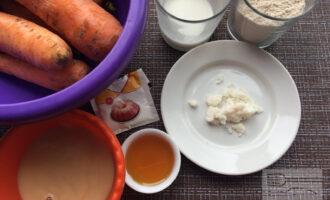 Шаг 1: Приготовьте ингредиенты. Вымойте морковь. Растопите кокосовое масло.