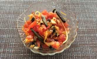 Салат из стручковой фасоли вегетарианский