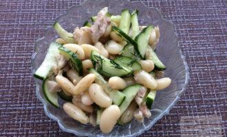 Белковый салат с фасолью для похудения