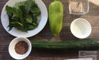 Шаг 1: Приготовьте необходимые ингредиенты. Вымойте овощи.