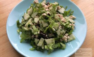Салат с курицей и черносливом диетический