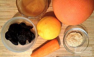 Шаг 1: Приготовьте ингредиенты по списку. Чернослив заранее замочите на ночь в воде комнатной температуры.