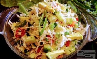 Диетический салат с авокадо