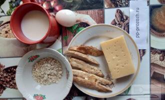 Шаг 1: Подготовьте ингредиенты для приготовления овсяноблина.