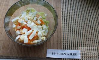 Шаг 7: Сложите все ингредиенты в салат.