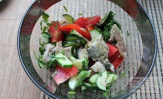 Скумбрия салат