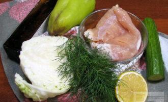 Шаг 1: Подготовьте необходимые ингредиенты, овощи и зелень тщательно промойте.