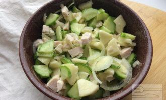 Салат с яблоками и луком Похудение