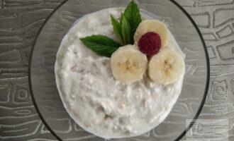 Десерт из творога и банана