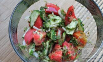 Диетический салат с морской капустой