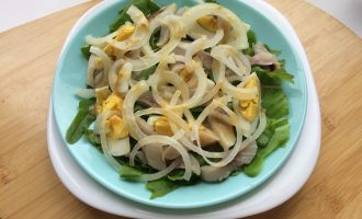 Диетический салат с рыбой