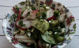 Салат из редиса огурца зелени для похудения