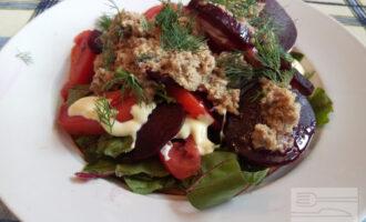 Салат со свеклой и тунцом диетический