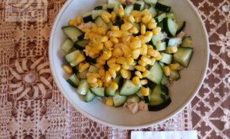Шаг 5: Добавьте кукурузу.