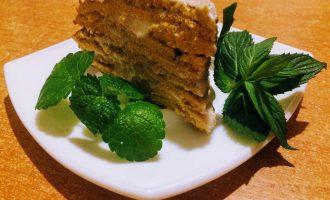 Тыквенный блинный диетический торт