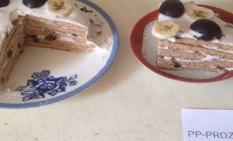 Диетический торт с желатином