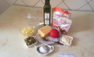 Шаг 1: Соберите все продукты по списку ингредиентов.