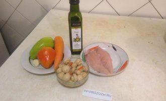 Шаг 1: Приготовьте все продукты по списку ингредиентов.
