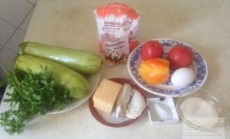 Шаг 1: Приготовьте заранее все продукты по списку ингредиентов.