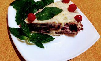 Диетический вишневый торт