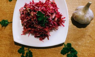 Салат-щетка для похудения без капусты