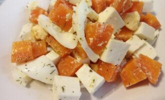 Диетический салат с вареной морковью