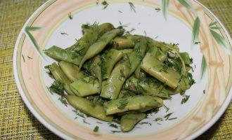 Салат со стручковой фасолью диетический