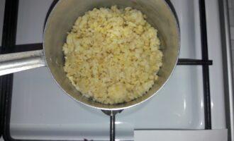 Шаг 2: Булгур отварите до готовности. Варите без соли и сахара.