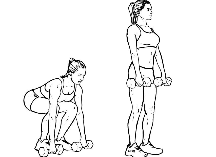 Приседания с весом для набора массы