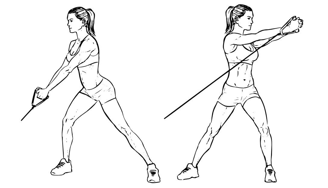 Тяга атлетических саней с поворотами