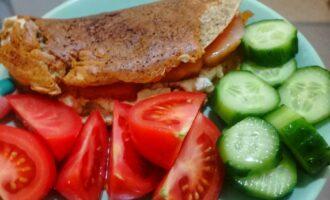 Ржано блин с лососем