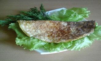 Овсяноблин с красной рыбой и творожным сыром