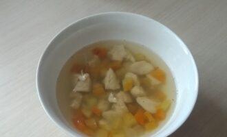 Суп из нута с куриной грудкой