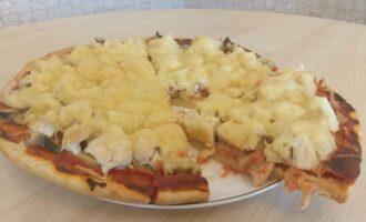 Пицца на слоёном тесте