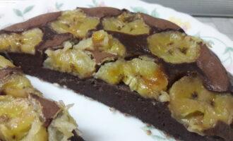 Шоколадно-банановый пирог на ряженке