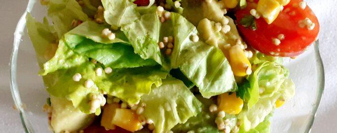 Вегетарианский салат с кедровыми орешками