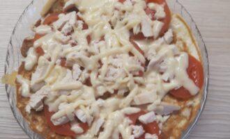 Пицца на сковороде на овсяноблине