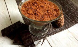 Шоколадный десерт из ряженки