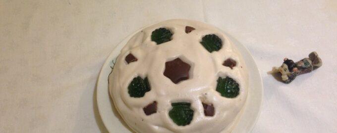 Постный вегетарианский кремовый торт
