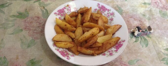 Картофель с соевым соусом в духовке
