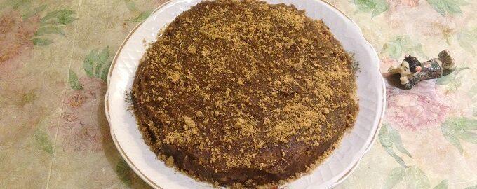 Веганский торт из фиников
