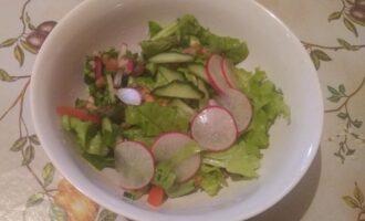 Весенний салат с машем