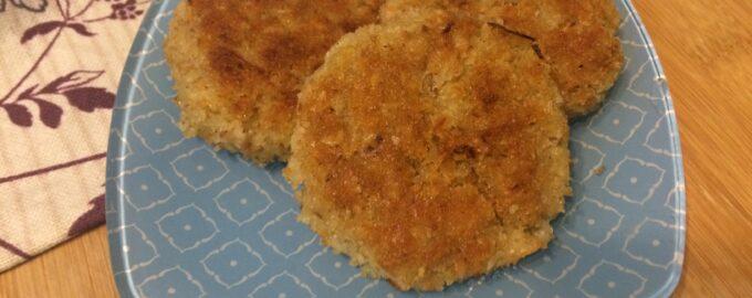 Постные котлеты из картофеля с овсянкой