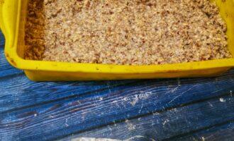 Шаг 7: Переложите в форму для запекания хлеба или кекса. И оставьте на 2 часа. Чтобы стала более плотной масса.