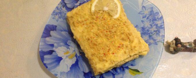 Диетический лимонный торт